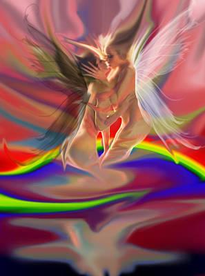Rainbow Fairies Art Print