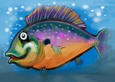 Rainbow Fish Art Print by Kevin Middleton
