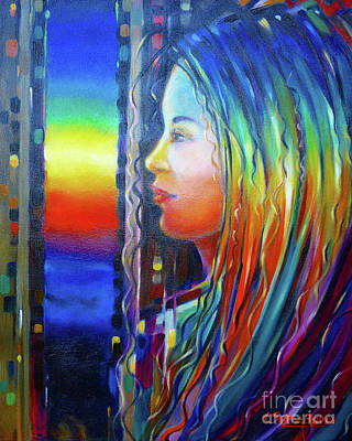 Rainbow Girl 241008 Art Print