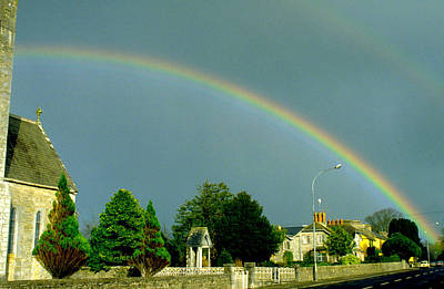 Photograph - Rainbow In Adare Ireland by Carl Purcell