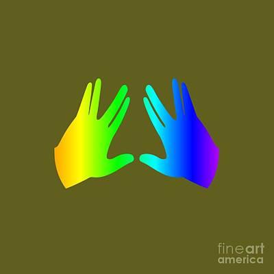 Rainbow Judaism Symbol Art Print by Frederick Holiday