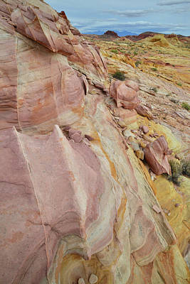 Photograph - Rainbow Of Sandstone In Valley Of Fire by Ray Mathis