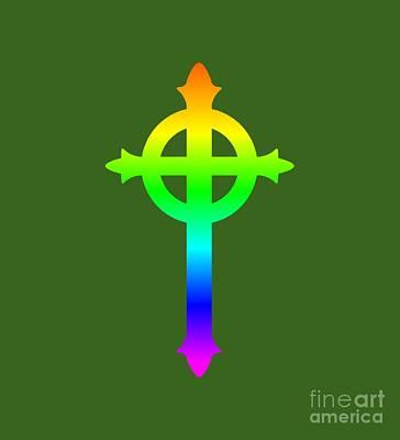 Rainbow Presbyterian Symbol Art Print by Frederick Holiday