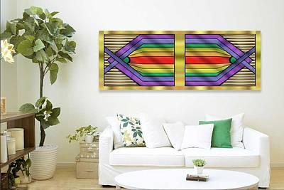 Digital Art - Rainbow Wall Hanging Horizontal by Chuck Staley