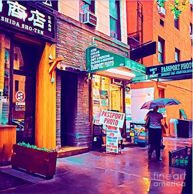 Photograph - Rainy Day In New York by Miriam Danar
