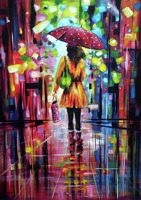 Painting - Rainy Day by Kovacs Anna Brigitta