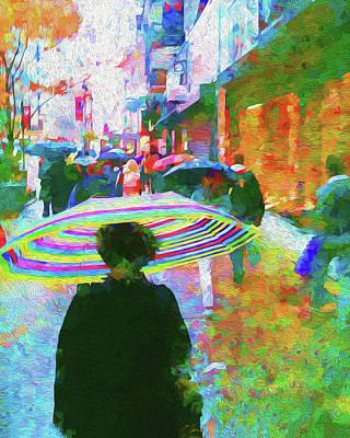 Impressionism Digital Art - Rainy Morning On 34th Street by Jon Woodhams
