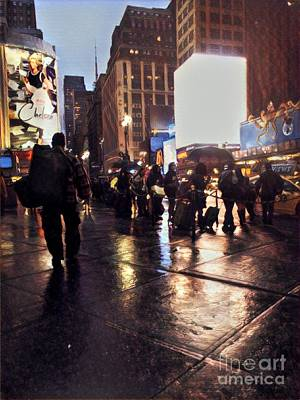 Photograph - Rainy Night New York by Miriam Danar