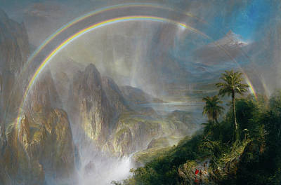 South American Jungle Painting - Rainy Season In The Tropics by Frederic Edwin Church