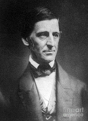 Ralph Waldo Emerson, American Author Art Print by Photo Researchers