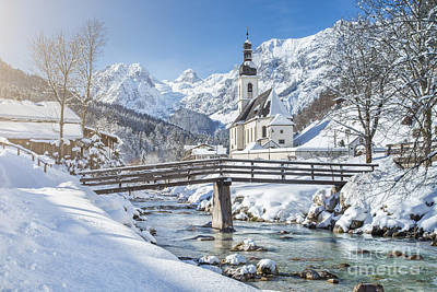 Austrian Photograph - Ramsau In Winter by JR Photography