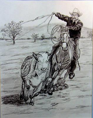 Ranch Work Art Print by Stan Hamilton