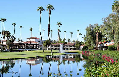 Sports Royalty-Free and Rights-Managed Images - Rancho Las Palmas Golf Course by Barbara Snyder