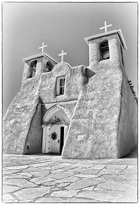 Taos Photograph - Ranchos De Taos Church In Black And White by Charles Muhle