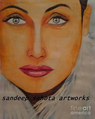 Alfred George Stevens Painting - Rani Mukerjee by Sandeep Kumar Sahota