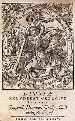 Saint Christopher Photograph - Rantzaus Astrology Book, 1584 Edition by Middle Temple Library