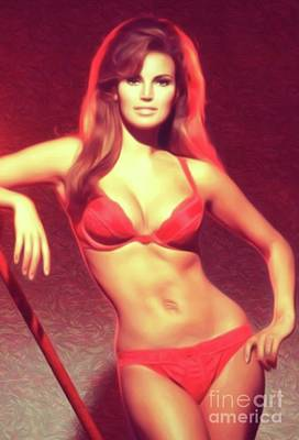 Jazz Royalty-Free and Rights-Managed Images - Raquel Welch, Actress by Mary Bassett