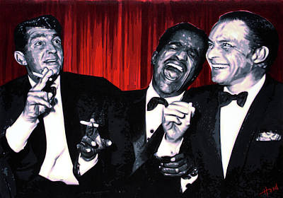 Sinatra Painting - Rat Pack by Hood alias Ludzska