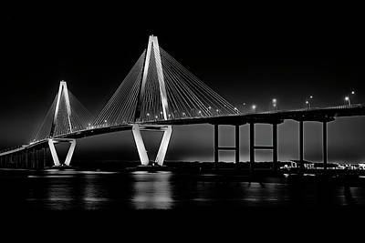 Art Print featuring the photograph Ravenel Bridge by Bill Barber