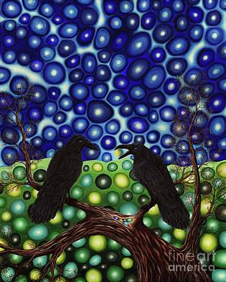 Painting - Ravens Tale by Rebecca Parker