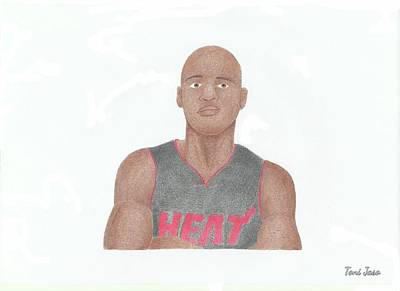 Miami Heat Drawing - Ray Allen by Toni Jaso