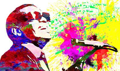 Rhythm And Blues Digital Art - Ray Charles by Elena Kosvincheva