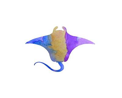 Devil Ray Painting - Ray by Steph J Marten