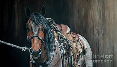 Western Bridle Pastel - Ready And Willing  by Joni Beinborn