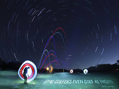 Photograph - Real Golfers Even Golf At Night by Andrew Nourse