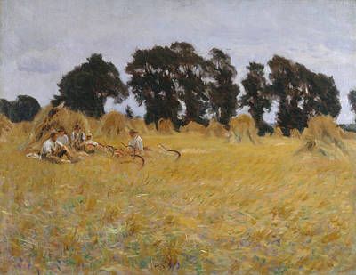 Painting - Reapers Resting In A Wheat Field by John Singer Sargent