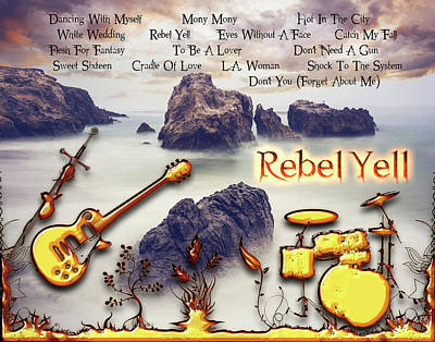 Digital Art - Rebel Yell by Michael Damiani