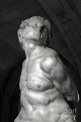Photograph - Rebellious Slave By Michelangelo by Gregory Dyer