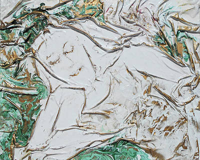 Mixed Media - Reclining by Angela Stout