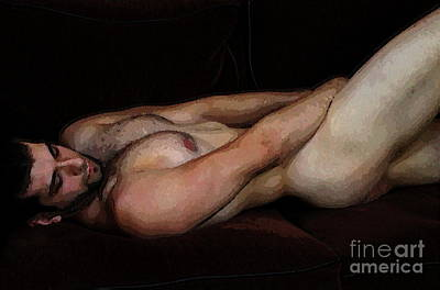 Digital Art - Reclining Nude by Robert D McBain