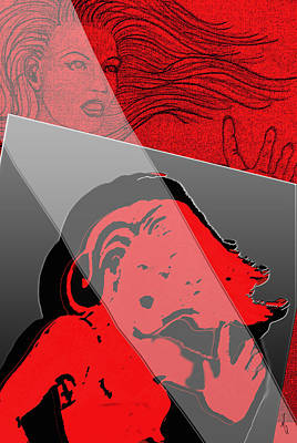 Multiple Personalities Digital Art - Red And Restless by Michelle Rene Goodhew
