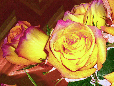 Photograph - Red And Yellow Roses by Merton Allen