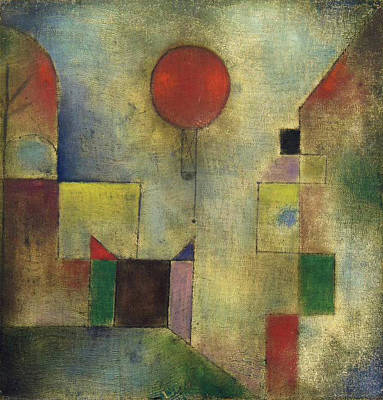 Switzerland Painting - Red Balloon by Paul Klee