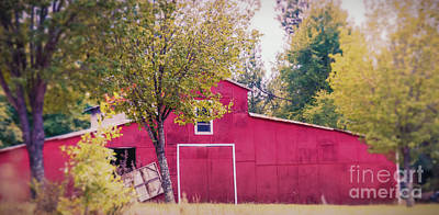 Photograph - Red Barn by Andrea Anderegg