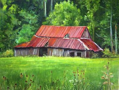 Painting - Red Barn by Gloria Smith
