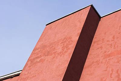 Red Building Art Print by Tom Gowanlock
