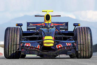 Photograph - Red Bull Formula 1 Racing by Herb Paynter