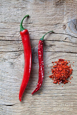 Flakes Photograph - Red Chili Pepper by Nailia Schwarz