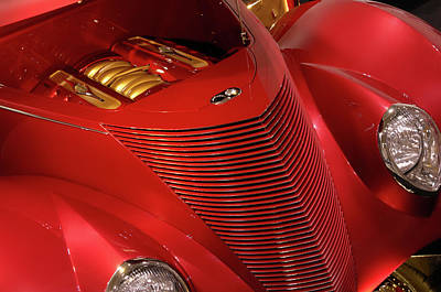 Red Classic Car Details Art Print by Oleksiy Maksymenko