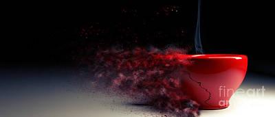 Cracks Digital Art - Red Cup by Andreas Berheide