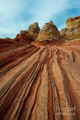 Photograph - Red Desert Lines by Mike Dawson