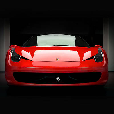 Photograph - Red Ferrari 458 by Matt Malloy
