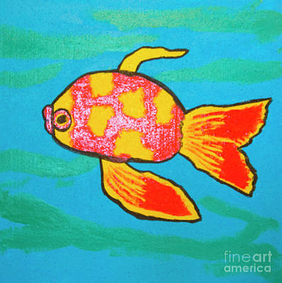 Painting - Red Fish, Painting by Irina Afonskaya