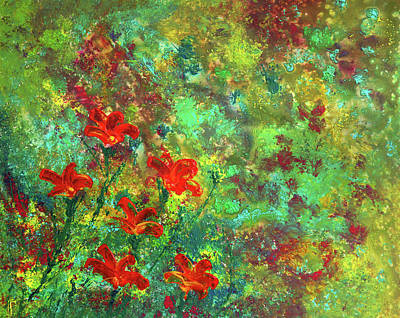 Painting - Red Flowers by Erik Tanghe