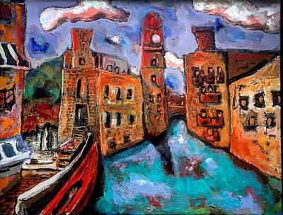 Painting - Red Gondola by Dilip Sheth