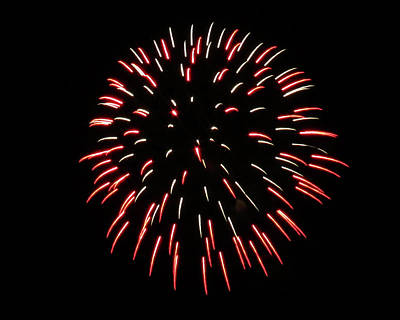 Photograph - Red Green Fireworks by Kyle J West